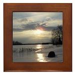 Winter Sunset 0004 Framed Tile