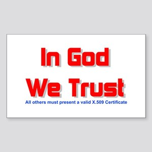 In God We Trust Rectangle Sticker