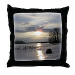 Winter Sunset 0004 Throw Pillow