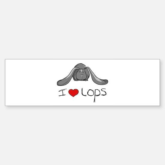 I Heart Lop Rabbits Bumper Bumper Bumper Sticker