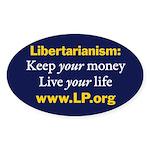 Libertarianism Oval Sticker