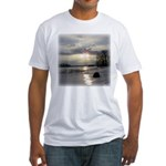 Winter Sunset 0004 Fitted T-Shirt