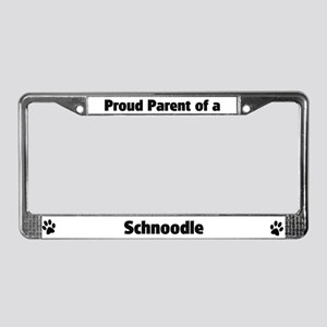Proud: Schnoodle License Plate Frame
