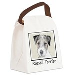 Russell Terrier Rough Canvas Lunch Bag