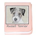 Russell Terrier Rough baby blanket
