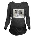 Russell Terrier Roug Long Sleeve Maternity T-Shirt