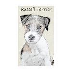 Russell Terrier Rough Sticker (Rectangle 10 pk)