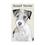 Russell Terrier Rough Sticker (Rectangle 50 pk)