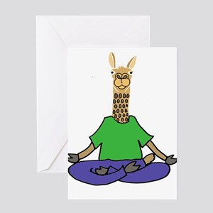 Funny yoga greeting cards cafepress llama yoga greeting cards m4hsunfo
