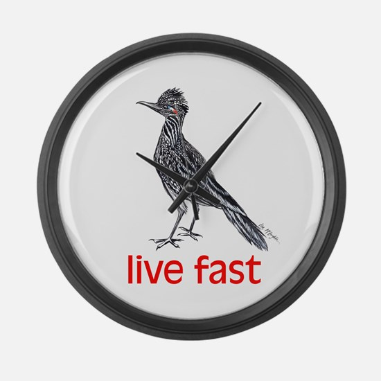 live fast Large Wall Clock