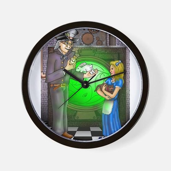 SteamPunk Alice Version 1 Wall Clock