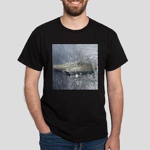 USS Kitty Hawk Black Military Gift T-Shirt