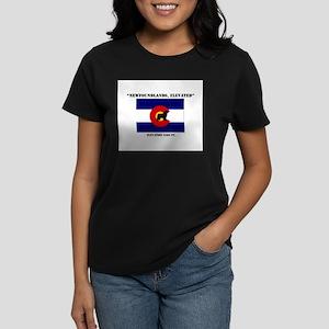 Big Black Dog Women's Dark T-Shirt