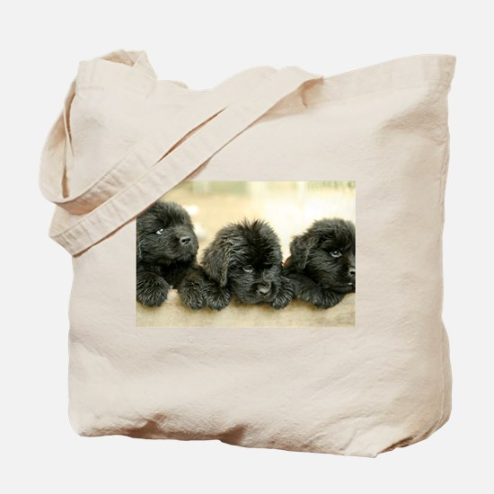 Big Black Dog Tote Bag