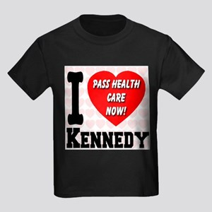I Love Kennedy Pass Health Care Now Kids Dark T-Sh
