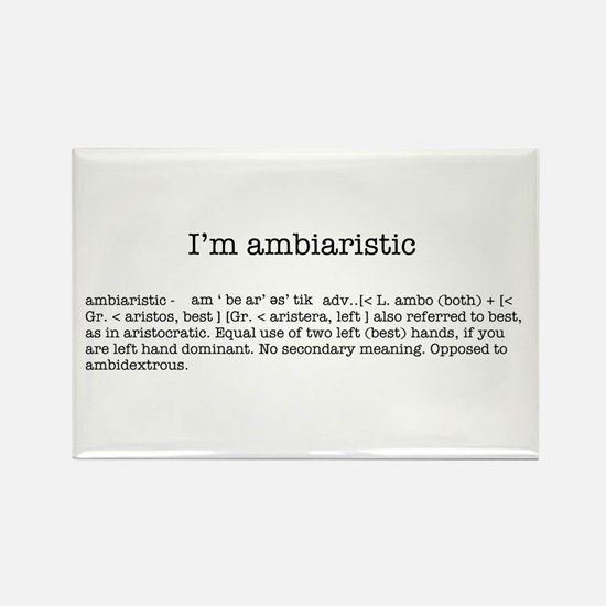 I'm ambiaristic Rectangle Magnet (100 pack)