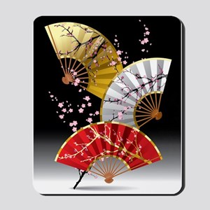 Japanese Cherry Fans Mousepad