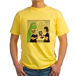 Dinosaur Service Animal Yellow T-Shirt
