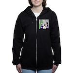 Dinosaur Service Animal Women's Zip Hoodie