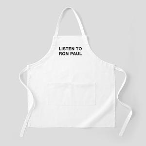Listen to Ron Paul BBQ Apron