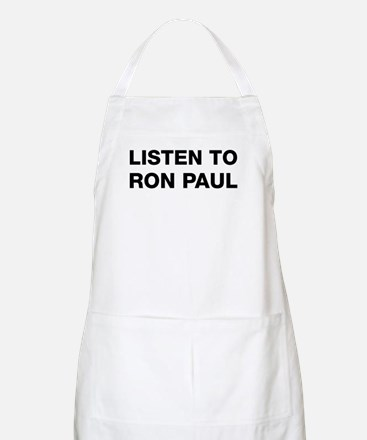 Listen to Ron Paul BBQ Apron