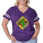 C4w Women's Plus Size Football T-Shirt