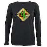 C4w Women's Plus Size Long Sleeve Dark T-Shirt