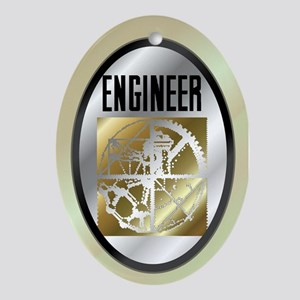 Engineers Oval Ornament