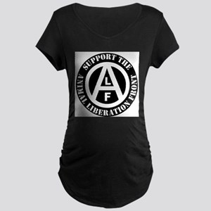 Vegetarian Vegan Support Animal Maternity T-Shirt