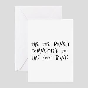 toe bone Greeting Card