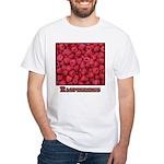 Raspberries White T-Shirt