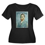 Vincent Women's Plus Size Scoop Neck Dark T-Shirt