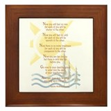 Apache wedding blessing Framed Tiles