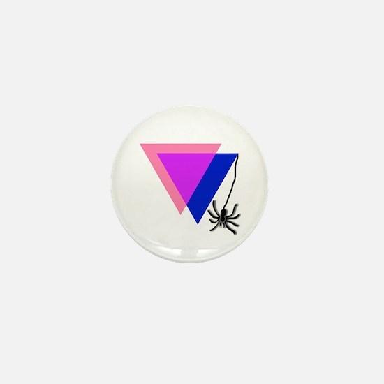 Bi Triangle Spider Mini Button