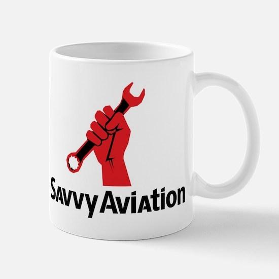 Savvy Aviation Fist Logo Mugs