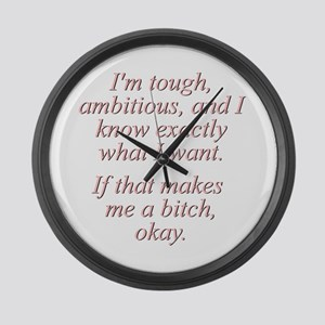 Madonna Quote Large Wall Clock