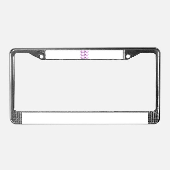 Purple Fleur de Lis License Plate Frame