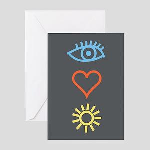 I Love Sun - Birthday Card