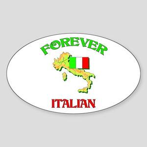 Forever Italian Oval Sticker