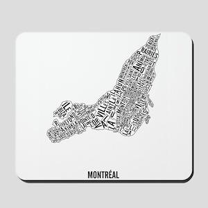 Montréal neighborhoods Mousepad