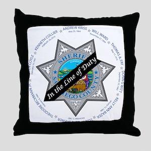 San Diego Law Enforcement Memorial Throw Pillow