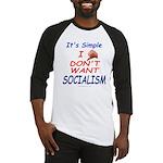No Socialism Baseball Jersey