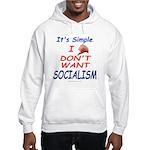 No Socialism Hooded Sweatshirt