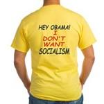 No Socialism 2-sided Yellow T-Shirt