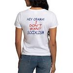 No Socialism 2-sided Women's T-Shirt