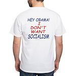 No Socialism 2-sided White T-Shirt