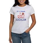 No Socialism 2-Sided Women's T