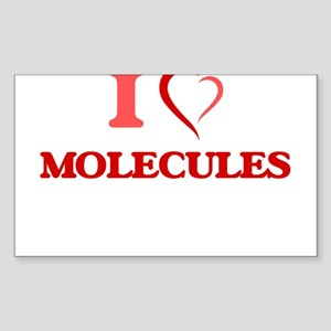 I Love Molecules Sticker