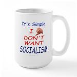 No Socialism Large Mug