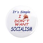 "No Socialism 3.5"" Button (100 pack)"